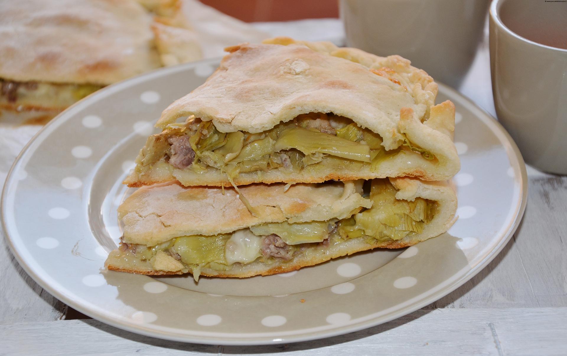 Focaccia Bread With Artichokes And Pecorino Sauce